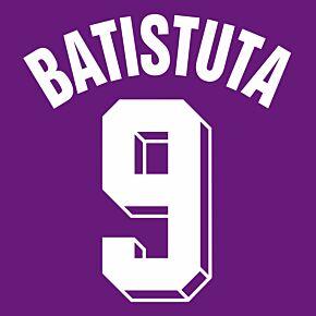 Batistuta 9 (Retro Fan Style Printing) 20-21 Fiorentina Home