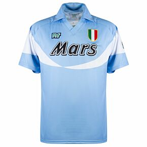 90-91 Napoli Ennerre Home Authentic Remake Shirt - Mars Sponsor