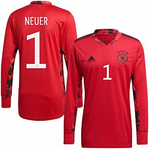 20-21 Germany Home GK Shirt + Neuer 1 (Official Printing)