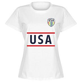 USA Team Pride Womens Tee - White