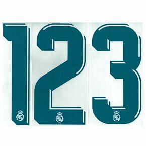 Real Madrid Home Individual Numbers 2017 / 2018