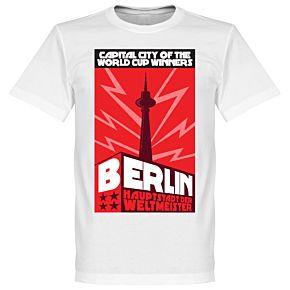 Berlin Capital Tee - White/Red