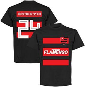 flamengo #NumeroDoRespeito 24 Team T-shirt - Black