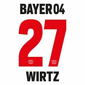 Wirtz 27 (Official Printing) - 21-22 Bayer Leverkusen Away