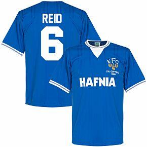 1984 Everton Home FA Cup Final Retro Shirt + Reid 6