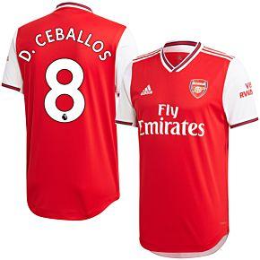 adidas Arsenal Home Authentic D. Ceballos 8 Jersey 2019-2020