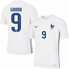 20-21 France Vapor Match Away Shirt + Giroud 9 (Official Printing)