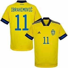 20-21 Sweden Home Shirt + Ibrahimović 11 (Official Printing)