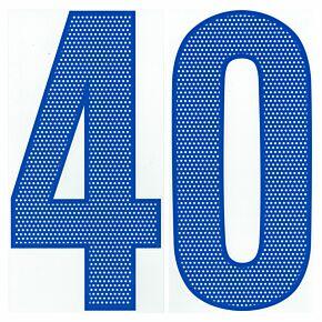 04-05 Nike Back Numbers - Royal Blue (250mm)