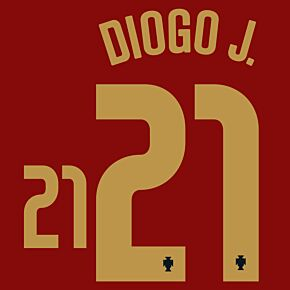 Diogo J. 21 (Official Printing) - 20-21 Portugal Home