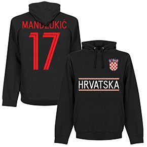 Croatia Mandžukic 17 Team Hoodie - Black