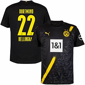 20-21 Borussia Dortmund Away Shirt + Bellingham 22 (Official Printing)