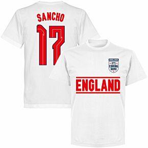 England Sancho 17 Team KIDS T-shirt - White