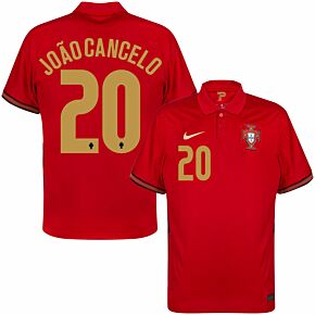 20-21 Portugal Home Shirt + João Cancelo 20 (Official Printing)