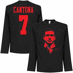 Cantona Silhouette L/S Tee - Black/Red
