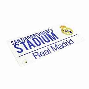 Real Madrid Street Sign (40cm x 18cm)