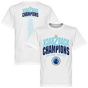 City Back to Back Champions Squad Tee - White