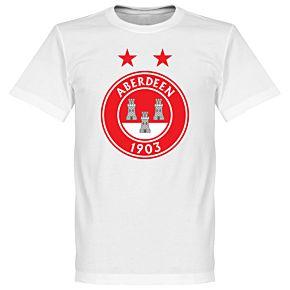 Aberdeen Fan Crest Tee - White