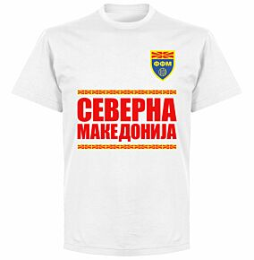 North Macedonia Team T-shirt - White