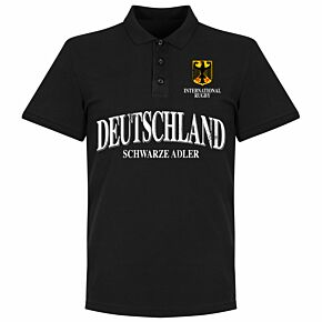 Germany Rugby Polo Shirt - Black
