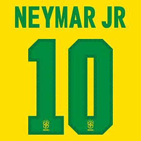 Neymar Jr 10 (Official Printing) - 20-21 Brazil Home