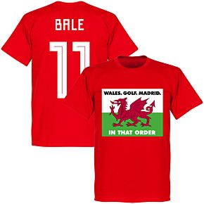 Wales, Golf, Madrid, In That Order Bale 11 T-Shirt - Red