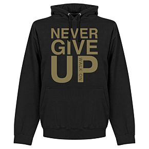 Never Give Up Liverpool Hoodie - Black/Gold