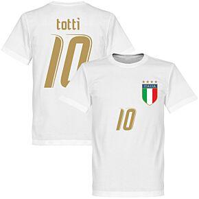 2006 Italy Totti Tee - White