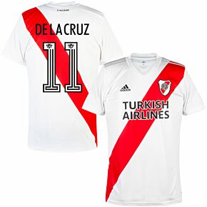 20-21 River Plate Home Shirt +  De La Cruz 11 (Fan Style Printing)