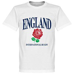 England Rose International Rugby KIDS Tee - White