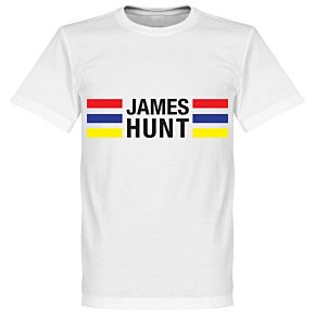 James Hunt Stripes Tee - White