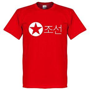 North Korea Script Tee - Red