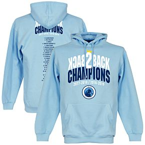 City Back to Back Champions Squad Hoodie - Sky