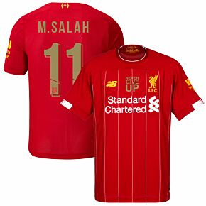 New Balance Liverpool Home M. Salah 11 Jersey 2019-2020 (Never Give Up Printing inc Transfer)