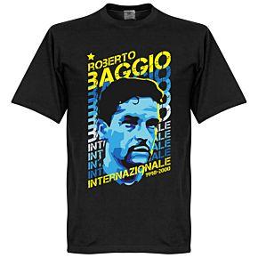 Baggio Inter Portrait Tee - Black