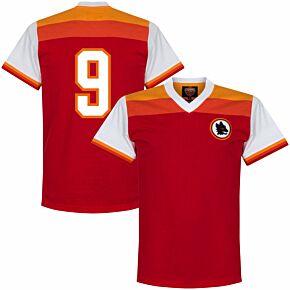 78-79 AS Roma Retro Shirt + No. 9 (Pruzzo)