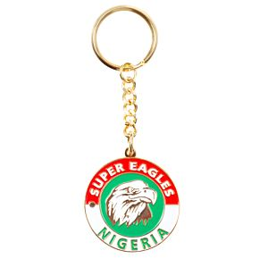 Nigeria Enamel Keyring