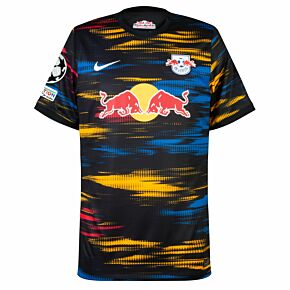 21-22 RB Leipzig Away Shirt +  + UCL Starball + UEFA Foundation Patch Set
