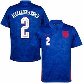 20-21 England Away Shirt + Alexander-Arnold 2 (Official Printing)