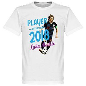 Modric Player of the Year 2018 Tee - White