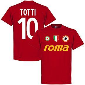 Roma Vintage Totti 10 Team Tee - Tango Red