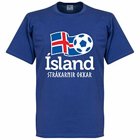 Iceland National Tee - Blue