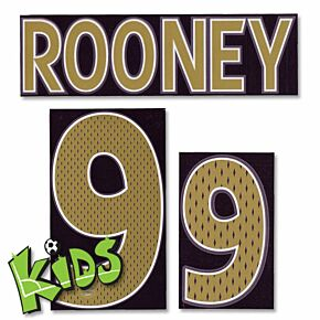 Rooney 9 06-08 England Away Junior Name and Number Transfer