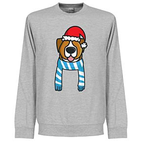 Christmas Dog Supporters Sweatshirt (Grey/Sky/White)