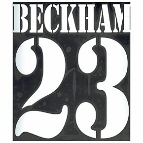 Beckham 23 - 02-03 Real Madrid Away Flex Name and Number Transfer