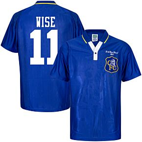 1997 Chelsea Home Retro FA Cup Final Shirt + Wise 11 (Retro Flock Printing)