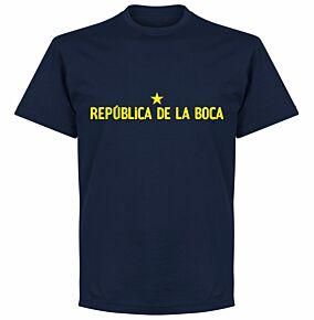 Republica De Le Boca Slogan T-Shirt - Navy