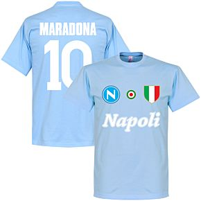 Napoli Maradona 10 KIDS Team T-Shirt - Sky
