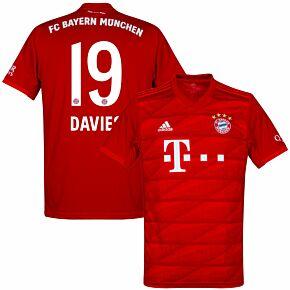 19-20 Bayern Munich Shirt + Davies 19