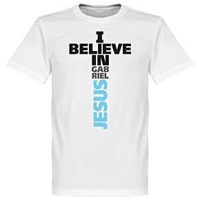I Believe in Gabriel Jesus Tee - White